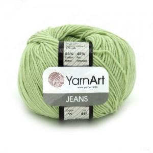 11 Пряжа YarnArt Jeans фисташка
