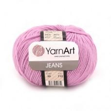 20 Пряжа YarnArt Jeans ярко-розовый