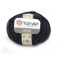28 Пряжа YarnArt Jeans графит
