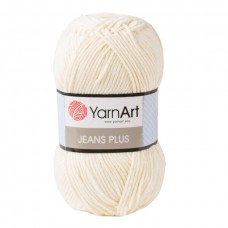 03 Пряжа YarnArt Jeans Plus молочный
