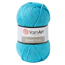 33 Пряжа YarnArt Jeans Plus бирюза