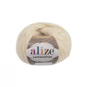 1 Пряжа Alize Lanacoton кремовый