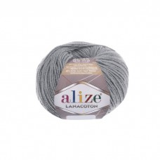 21 Пряжа Alize Lanacoton серый меланж