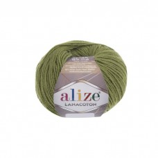 485 Пряжа Alize Lanacoton зеленый