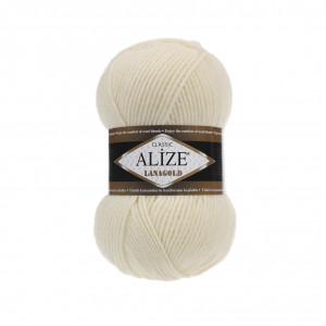 1 Пряжа Alize Lanagold кремовый