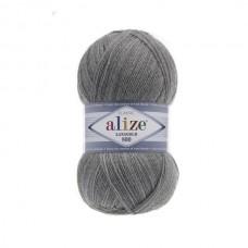 21 Пряжа Alize Lanagold 800 серый меланж