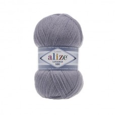 200 Пряжа Alize Lanagold 800 светло-серый