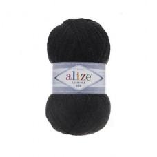 151 Пряжа Alize Lanagold 800 темно-серый меланж