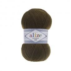 214 Пряжа Alize Lanagold 800 оливковый зеленый
