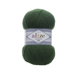 118 Пряжа Alize Lanagold 800 зеленая трава