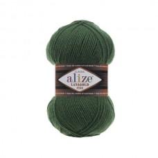 118 Пряжа Alize Lanagold Fine темно-зеленый