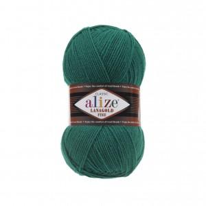 507 Пряжа Alize Lanagold Fine зеленый
