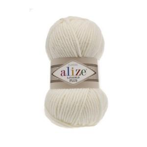 1 Пряжа Alize Lanagold Plus кремовый