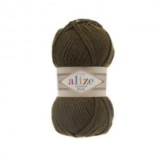 214 Пряжа Alize Lanagold Plus оливковый зеленый