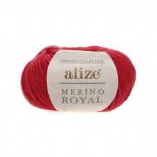 56 Пряжа Alize Merino Royal красный
