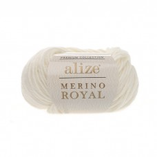 62 Пряжа Alize Merino Royal молочный