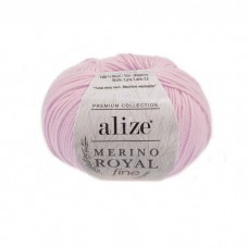 31 Пряжа Alize Merino Royal Fine светло-розовый