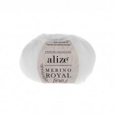 55 Пряжа Alize Merino Royal Fine белый
