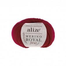 56 Пряжа Alize Merino Royal Fine красный