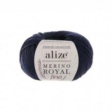 58 Пряжа Alize Merino Royal Fine темно-синий