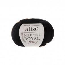 60 Пряжа Alize Merino Royal Fine черный