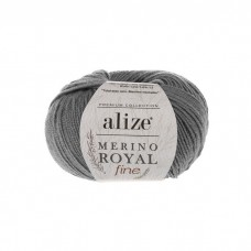 87 Пряжа Alize Merino Royal Fine темно-серый