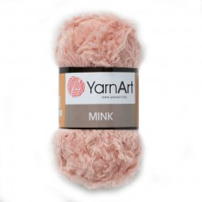 341 Пряжа YarnArt Mink розовая пудра