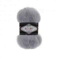 21 Пряжа Alize Mohair Classic New серый