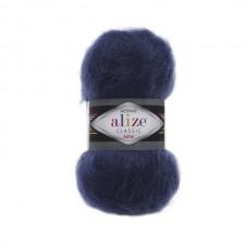 395 Пряжа Alize Mohair Classic New темно-синий