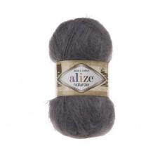 370 Пряжа Alize Naturale темно-серый