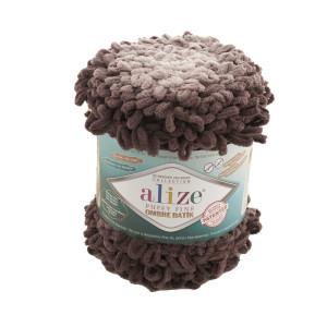 7243 Пряжа Alize Puffy Fine Ombre Batik