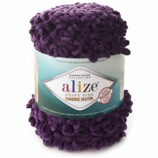 7277 Пряжа Alize Puffy Fine Ombre Batik