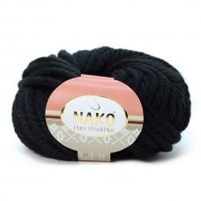 217 Пряжа Nako Pure Wool Plus черный