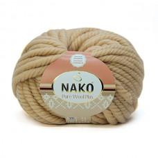 1670 Пряжа Nako Pure Wool Plus гороховый