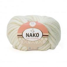 208 Пряжа Nako Pure Wool Plus белый