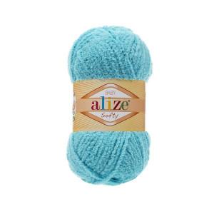 128 Пряжа Alize Softy светлая бирюза