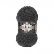 196 Пряжа Alize Superlana Midi темно-серый меланж